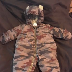 Baby Boy's Winter Camoflauge Jumpsuit